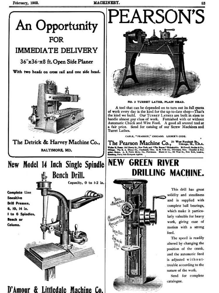 machinery advert