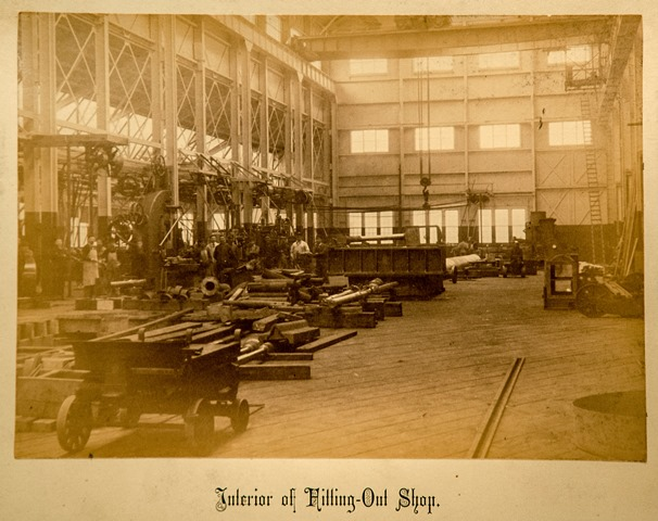 Interior view of the Fitting Out Shop